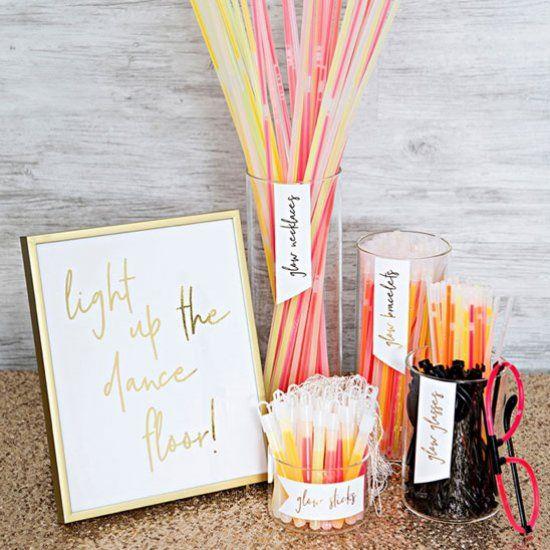 Wedding Gles Diy Glow Stick Bar Weddings Pinterest Sticks And