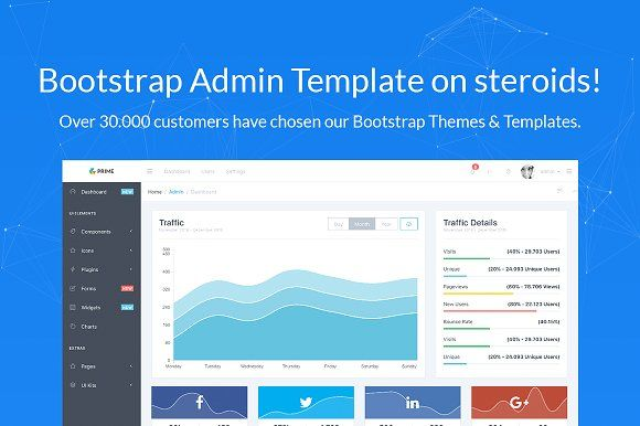 Prime Bootstrap 4 Admin Template By Creativelabs On