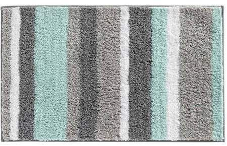 Interdesign Stripz Bath Rug 34x21 Walmart Com In 2020 Teal Bathroom Decor Mint Green Bathrooms Green Bathroom Decor