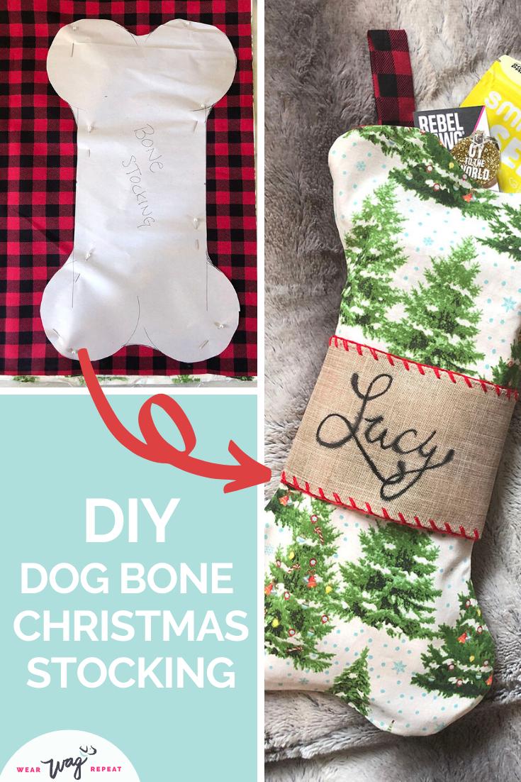 DIY Dog Bone Christmas Stocking | Wear Wag Repeat -   diy Tumblr gifts