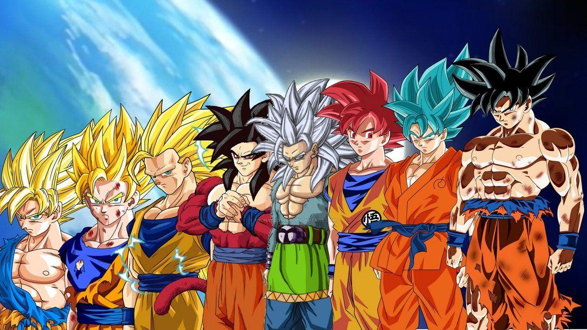 Goku Evolutions By Michaeld8489 Dragon Ball Artwork Dragon Ball Wallpapers Anime Dragon Ball Super