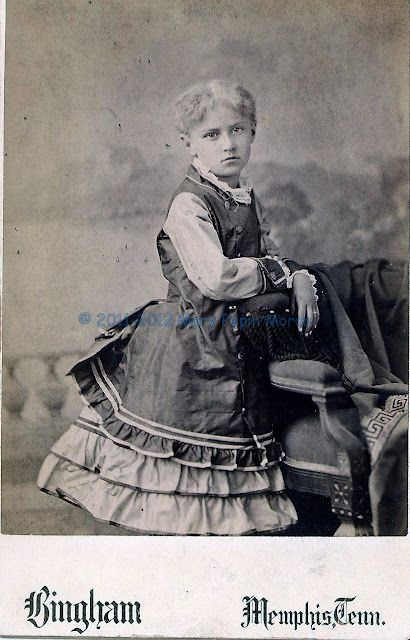 Unknown Girl by Bingham of Memphis Tenn pre-1897.  Friend or family member?