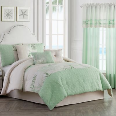 Palm Light 7 Piece California King Comforter Set In Green
