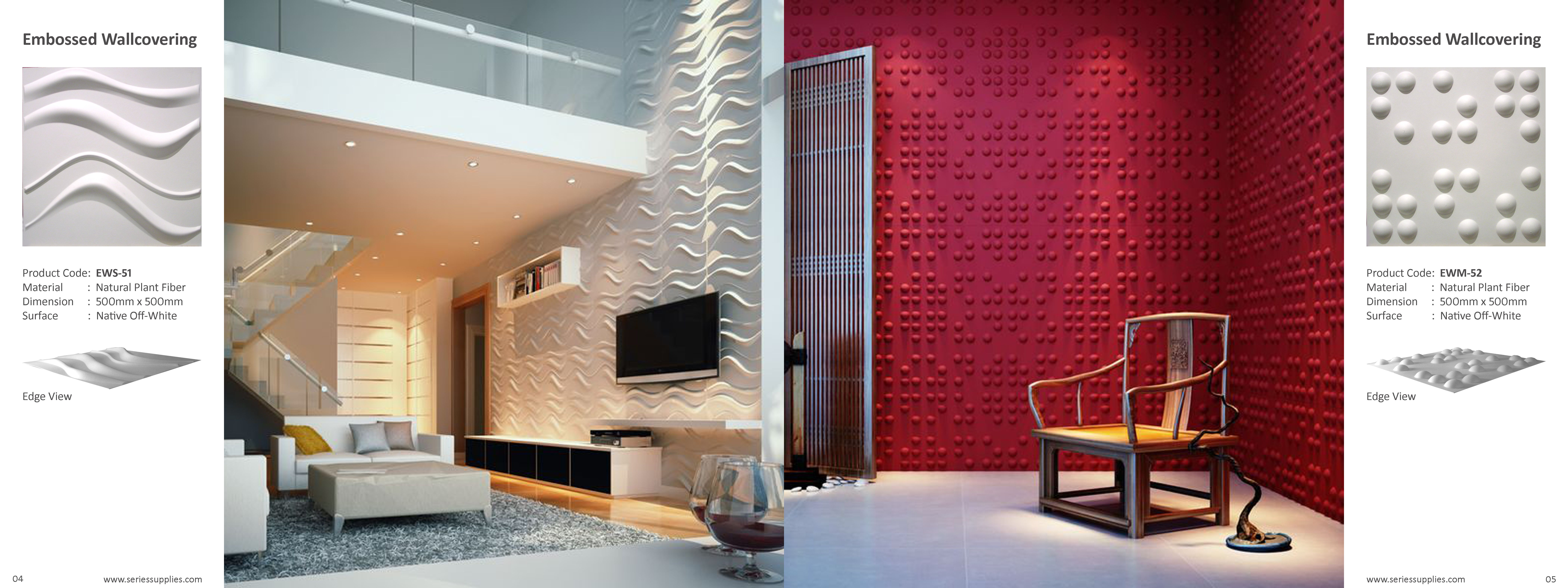 Three Dimensional Interior Wall Panels Made From Bamboo Pulp The Panels Have The Feel Of Solid Fibreboard And Can Be Eas Cool Walls Wall Panels 3d Wall Panels
