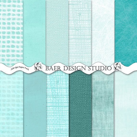 """Masculine digital paper with distressed backgrounds, watercolor textures, canvas patterns and grunge textured patterns all  in shades of turquoise blue.. These papers work well for creating Fathers Day cards, graduations, bachelor parties, scrapbook layouts, paper decor and journal stickers.  Hit """"visit"""" for more information."""