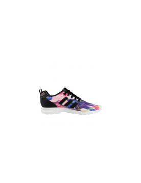 vente chaude en ligne 399d0 5efb8 ADIDAS ZX FLUX SMOOTH FLORERA OPTIC BLOOM ROSE / VIOLET POUR ...