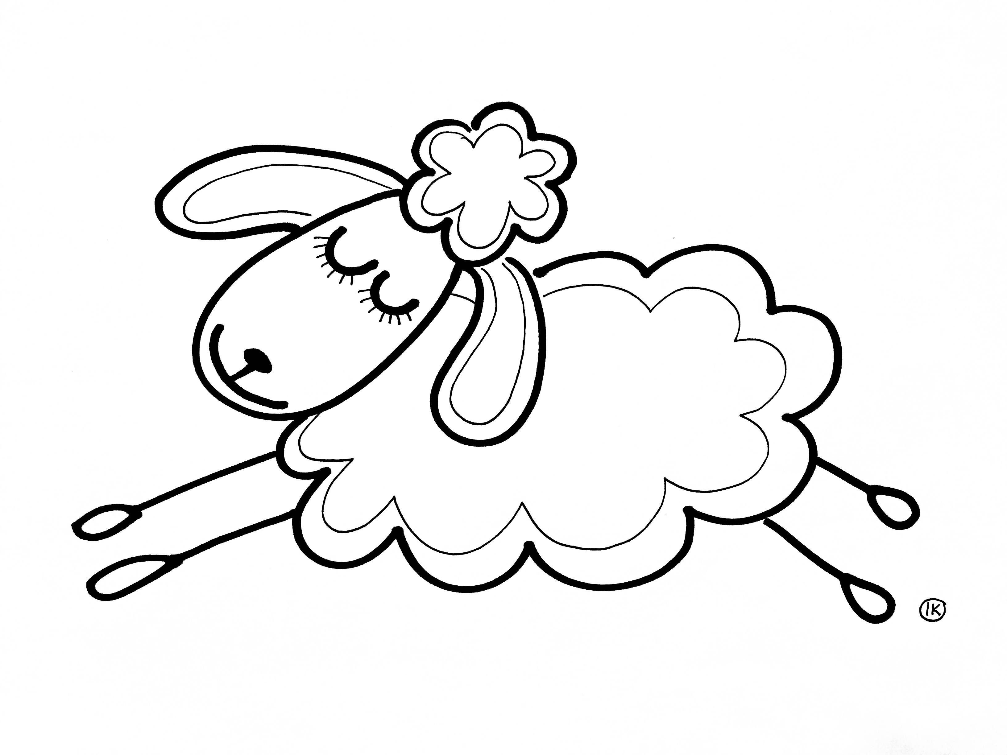 Coloring Sheep Spring Tinkering Creative Coloringpages Coloringpage De Knutseljuf Ede Sheep And Lamb Embroidery Patterns Sheep