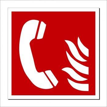 Feuer Notruf Schild Beschilderung Brandschutzzeichen Notruf 112 Schilder Beschilderung Notruf
