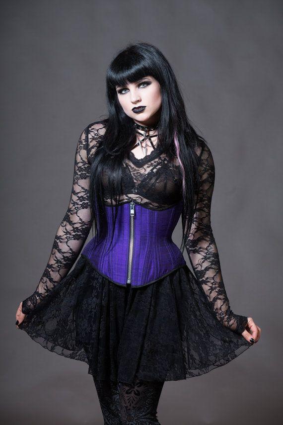 79a02bd5fb300 Plus Size Goth Lace Dress Sheer Stretchy V-Neck by KMKDesignsllc ...