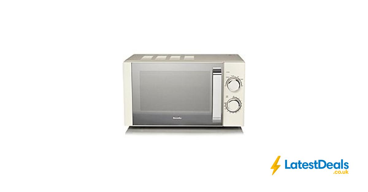 Breville Manual 800w Microwave Cream Free C 45 At Asda