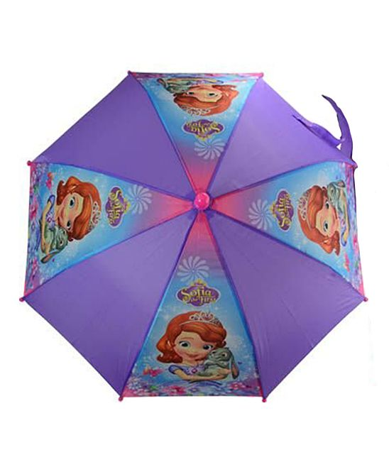 Purple Sofia the First Molded Handle Umbrella