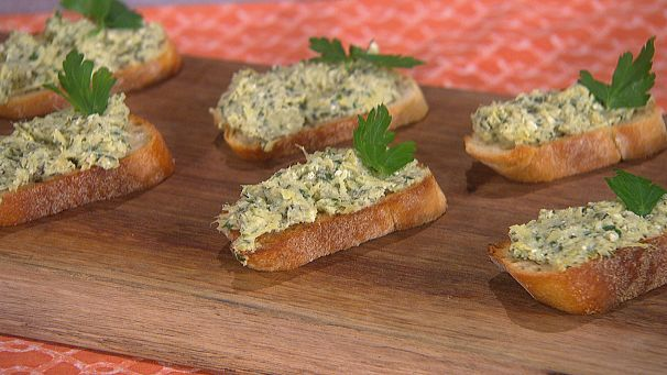 Pured artichoke crostini 3 signature recipes from valerie food forumfinder Choice Image