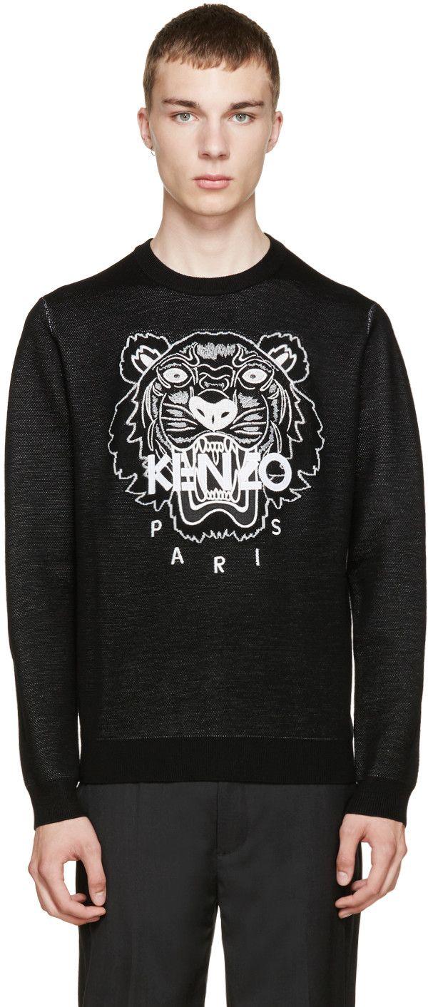 03f9f826ee70 KENZO Black Knit Tiger Sweater.  kenzo  cloth  sweater