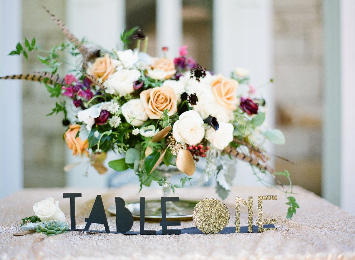 Sy Art Deco Wedding Inspiration Love These Cut Out Table Numbers