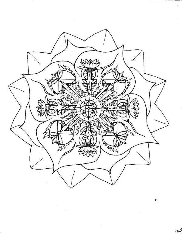 Lotus flower Mandala to color - Bing Images | Coloriages Mandala ...