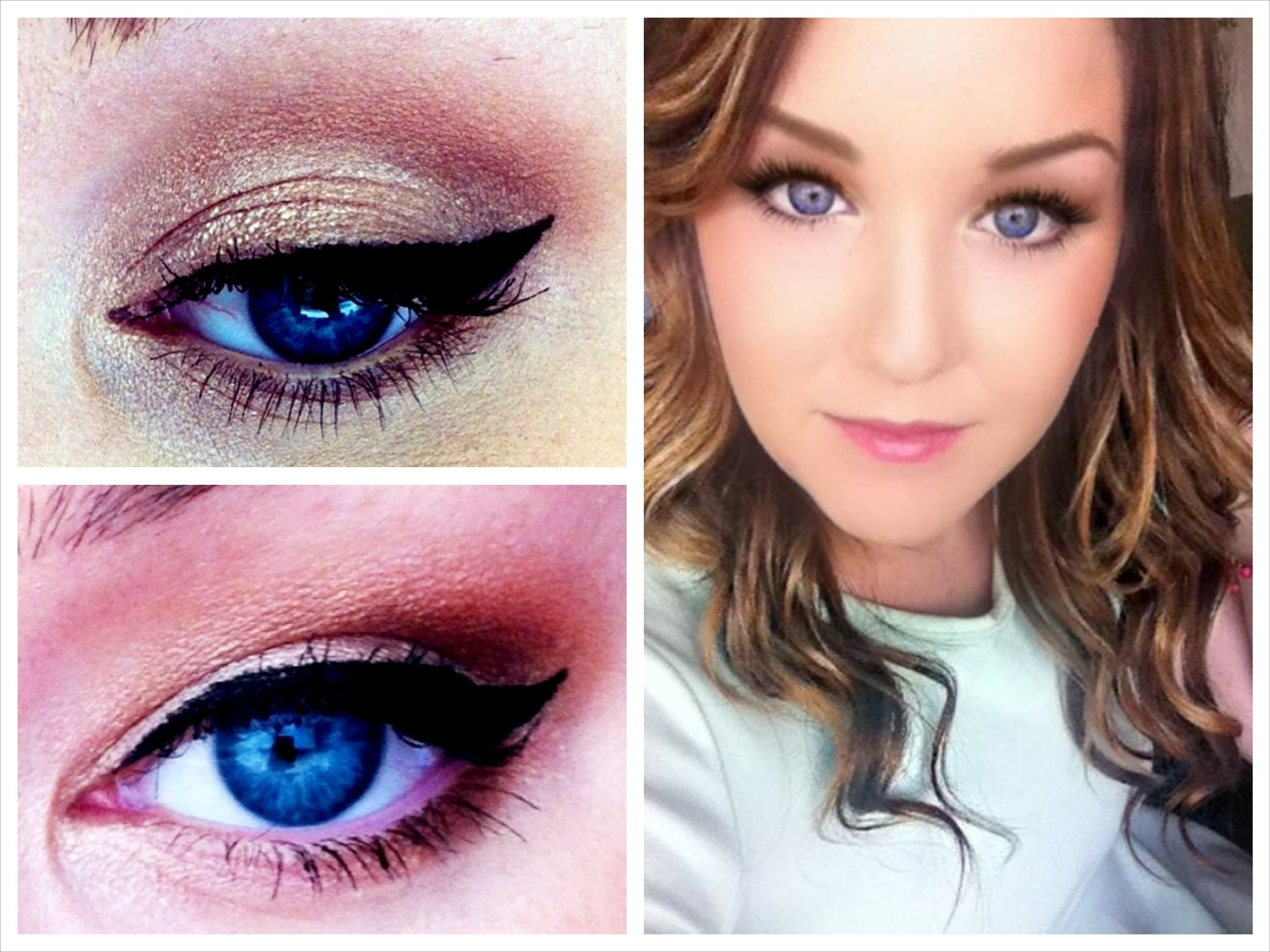 flattering blue eyes makeup tutorial + how to make small