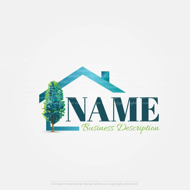 Create Your Own Online House Real Estate logo Design