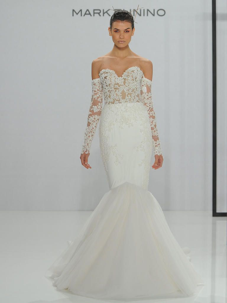Mark zunino for kleinfeld fall 2017 feminine silhouettes with mark zunino for kleinfeld fall 2017 feminine silhouettes with modern accents mark zunino wedding dresseskleinfeld junglespirit Images