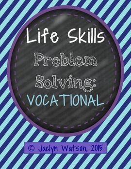 Life Skills Problem Solving: Vocational | SLP Middle and