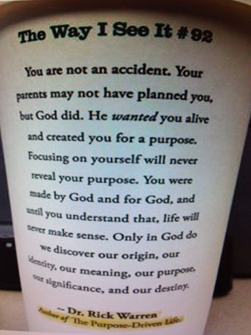 You are not an accident