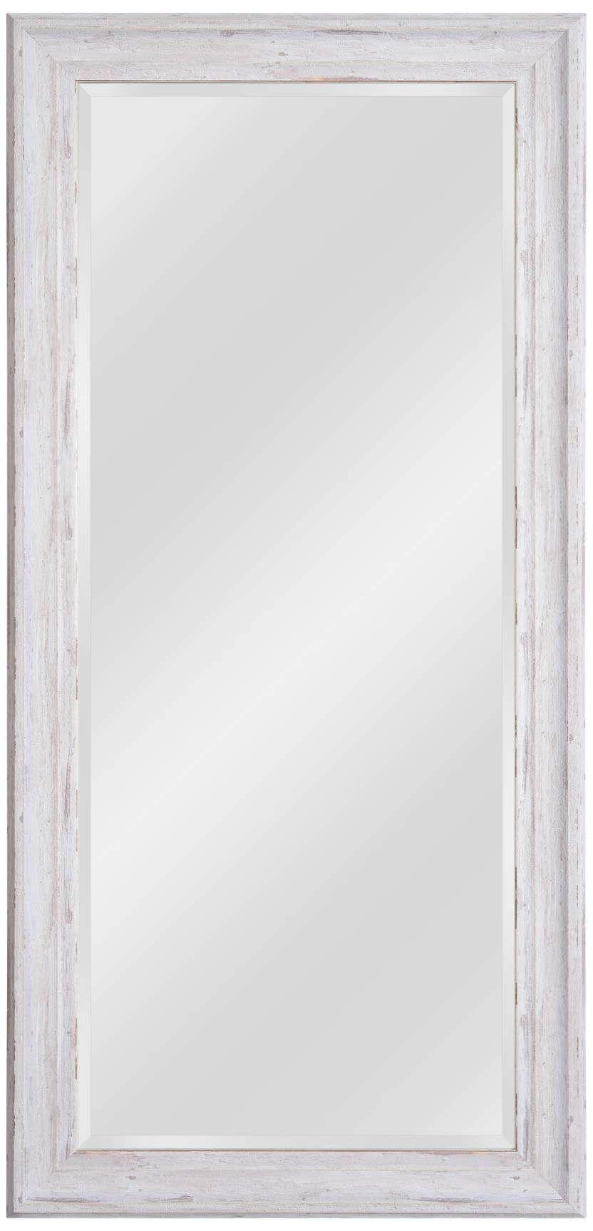 Warren Distressed White Wood 31 1 4 X 65 Floor Mirror White Mirror Frame Floor Mirror White Floor Mirror Distressed white wood mirror
