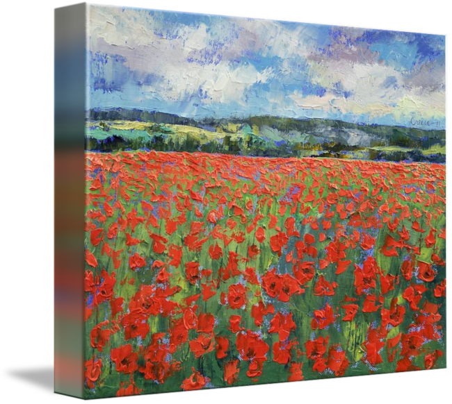 """""""Poppy Painting"""" By Michael Creese"""