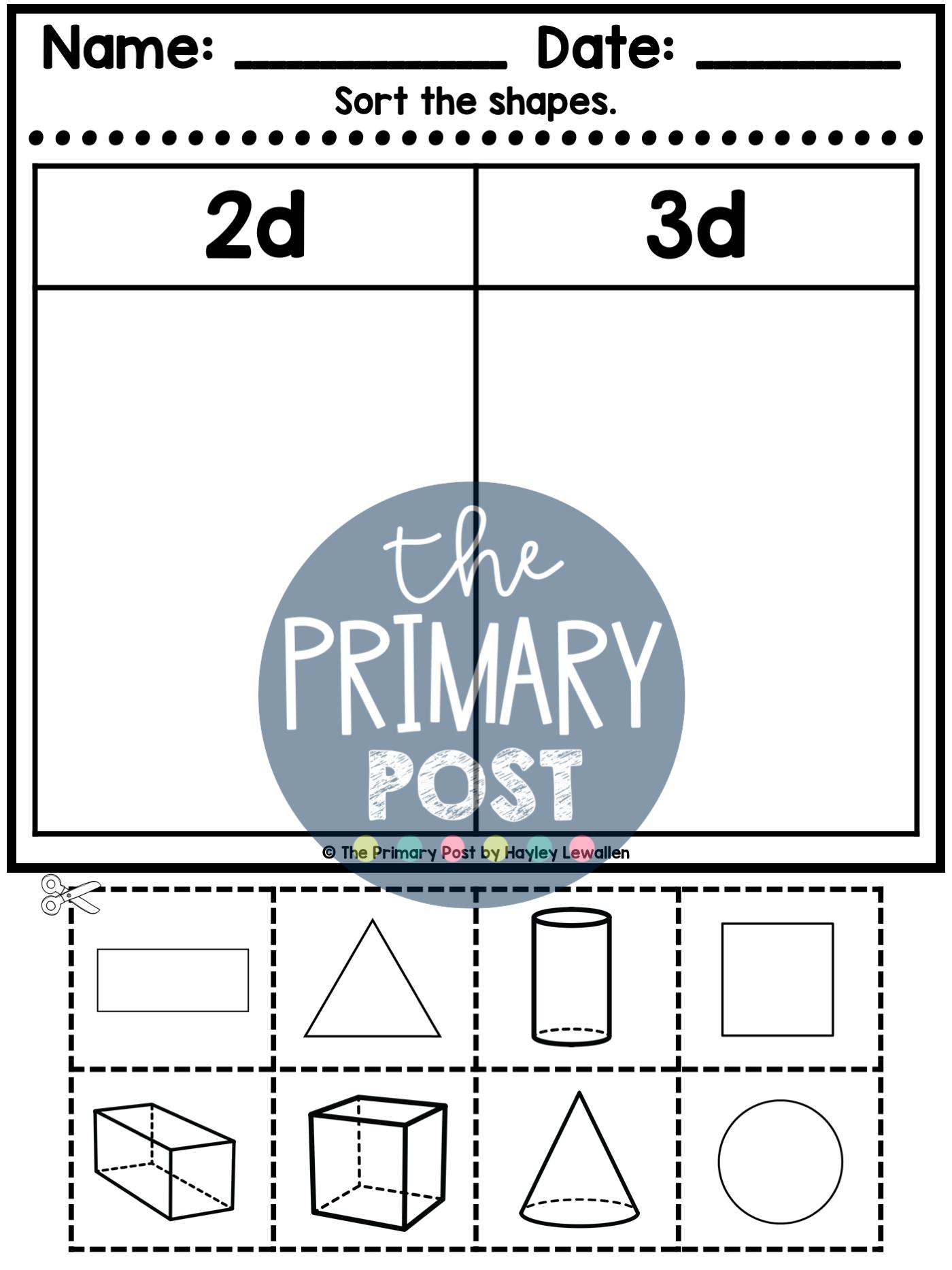 3d Shapes Worksheets In