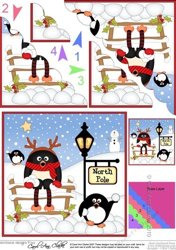christmas pip penguin is at the north pole fan pyramage