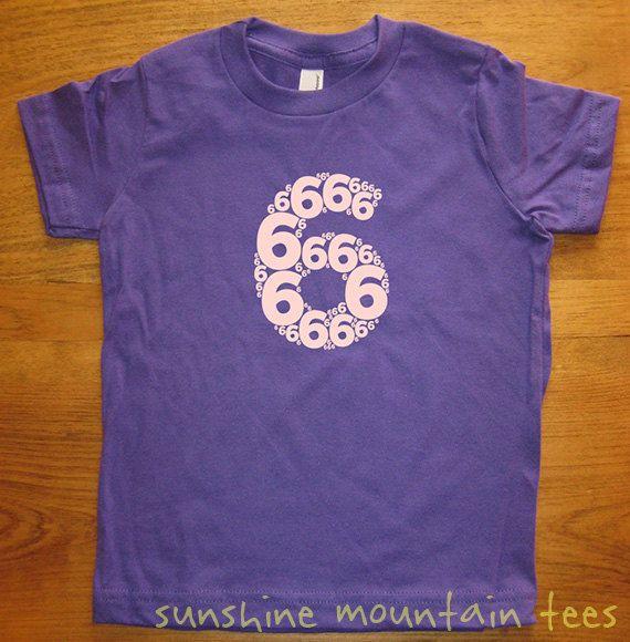 6th Birthday Shirt