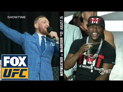 UFC ON FOX: Conor McGregor on Floyd Mayweather wearing a schoolbag 'You can't even read' | TOR