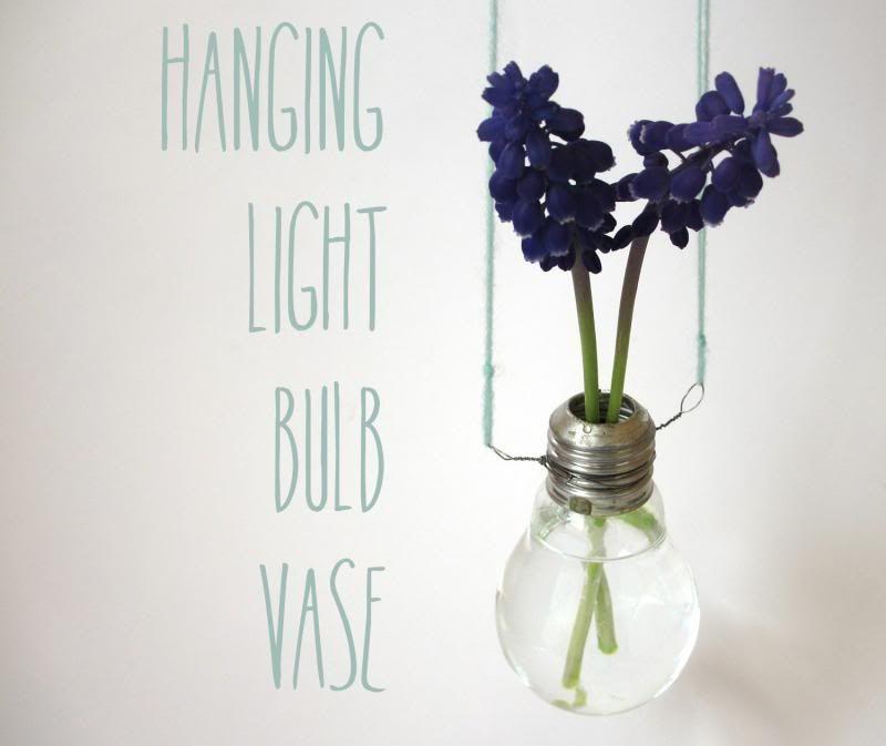 Hanging Light Bulb Vase Lighting