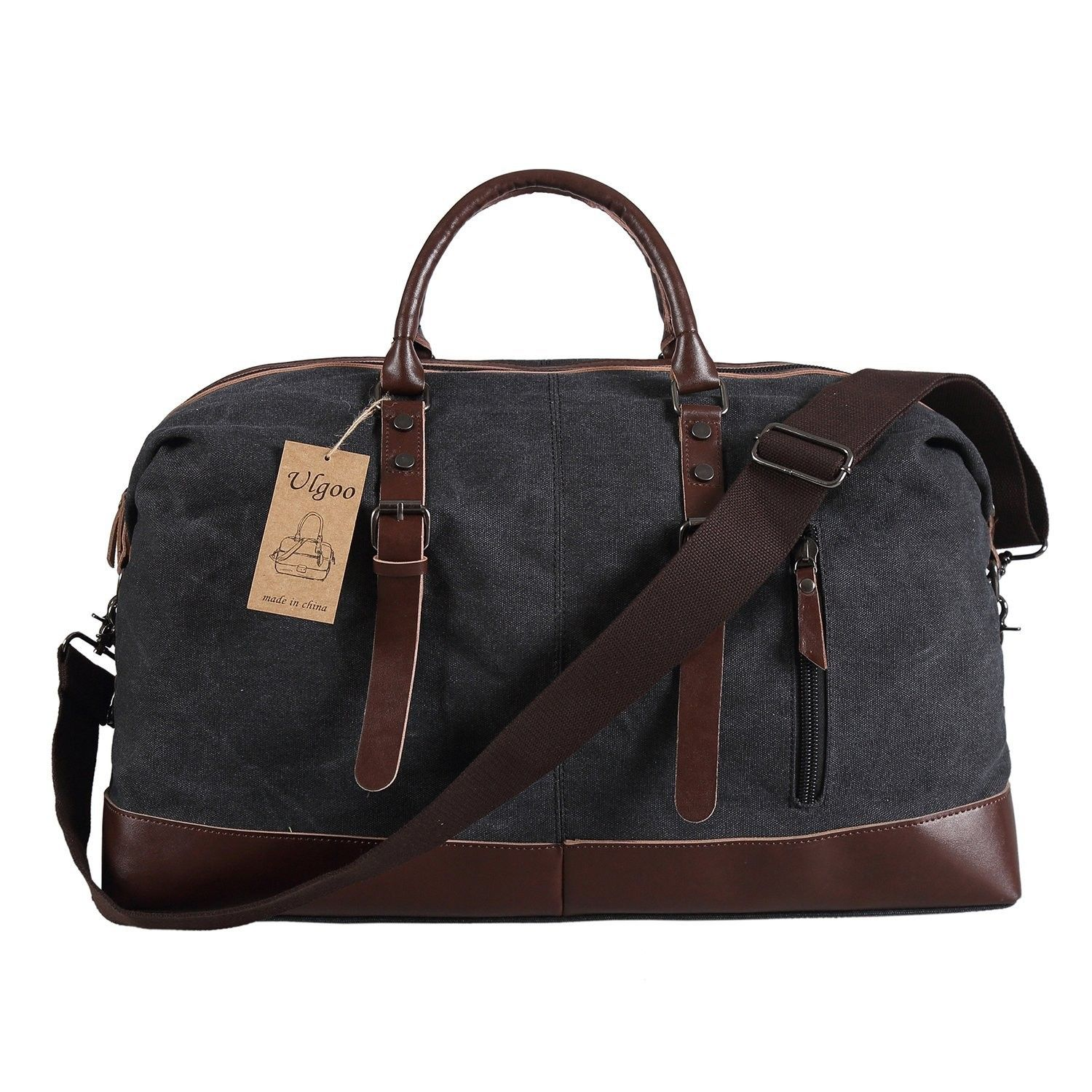Men s Bags, Duffle Bags, Travel Duffel Bag Canvas Bag PU Leather Weekend Bag  Overnight 043099ce54