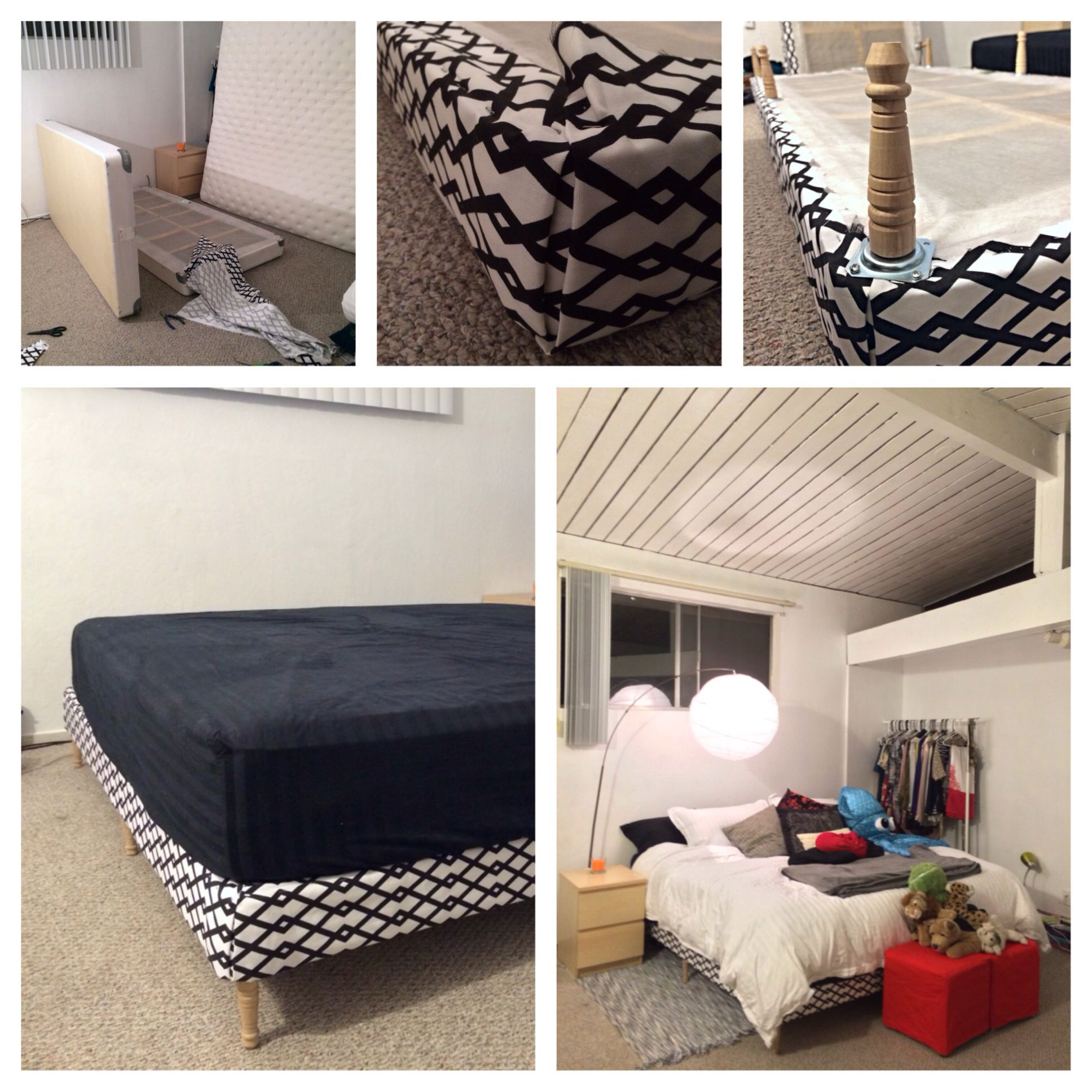 Diy Upholstered Box Spring And Bed Legs Success