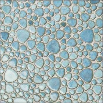 Kieselstein Fliesen Bad kieselmosaik kiesel fliesen kieselstein mosaik hellblau bad