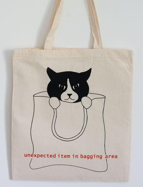 tuxedo-cat-bag-crop #CatAccessories - more at Catsincare.com