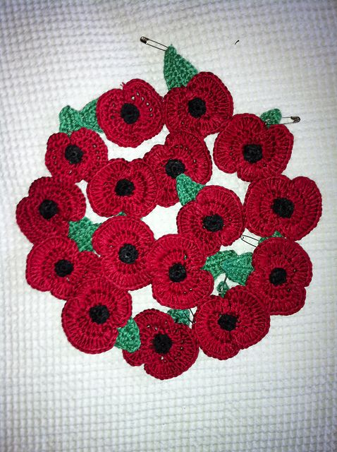 Free Crochet Remembrance Poppy Pattern By Bilgewater Davis