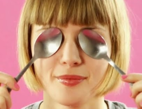Reduce eye puffiness by putting spoons in the freezer for 4 minutes and then placing them on your eyes.
