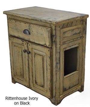Rustic Litter Cabinet This Would Be Great If I Could Find