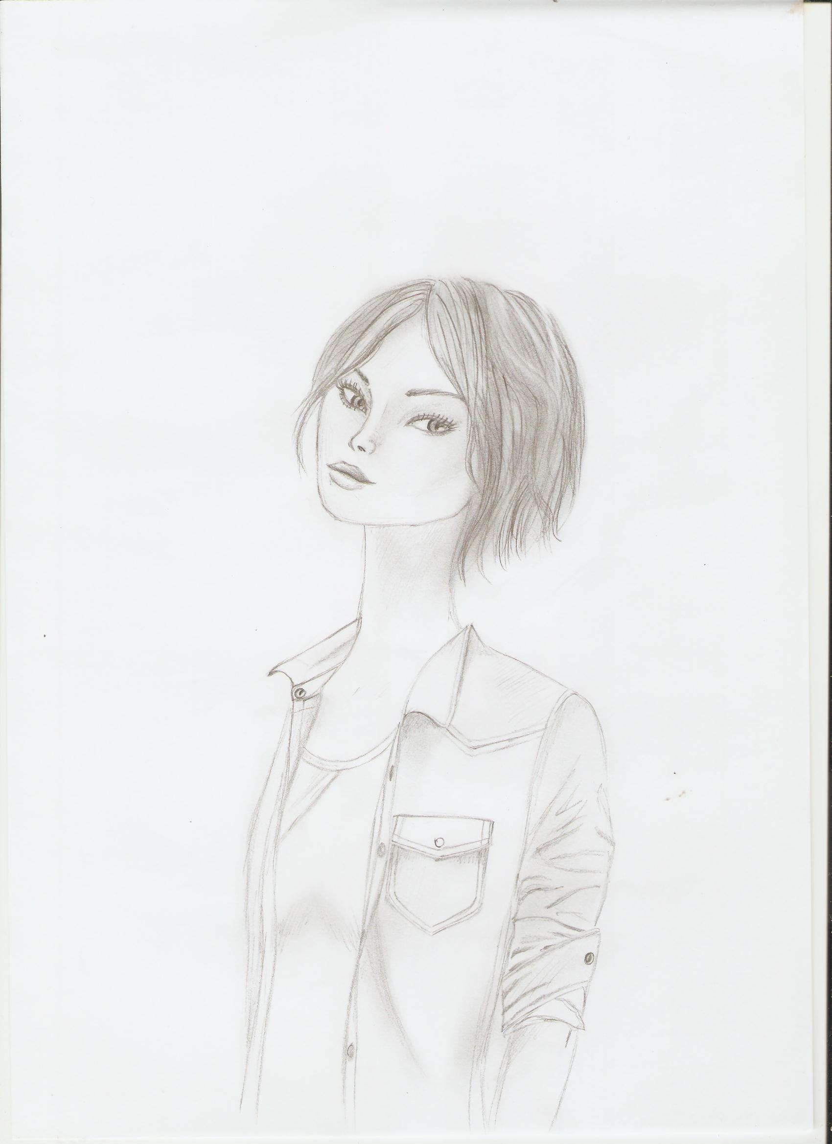 Drawings Of Girls With Short Hair : drawings, girls, short, Drawing,, Girl,, Short, Female, Sketch,, Styles,, Drawings