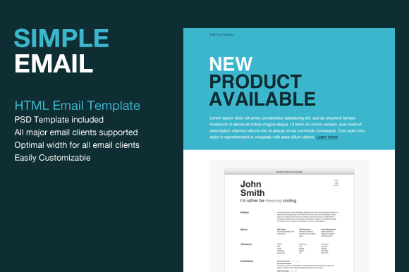 Website Templates Simple Html Email Template Creative Market