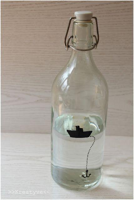 Glas Bemalen Flasche Diy Geschenke Basteln Bastelei Und Gläser