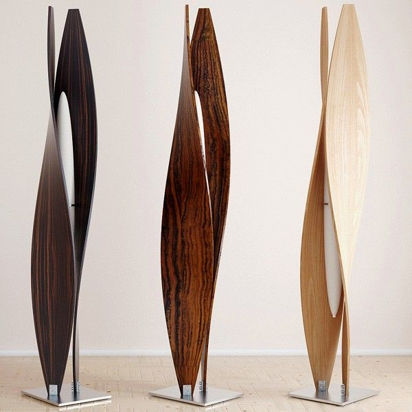 stylish and elegant floor lamp with curved panels | laminated