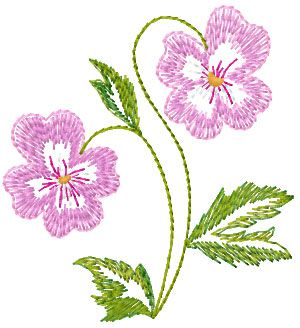 small flower free embroidery