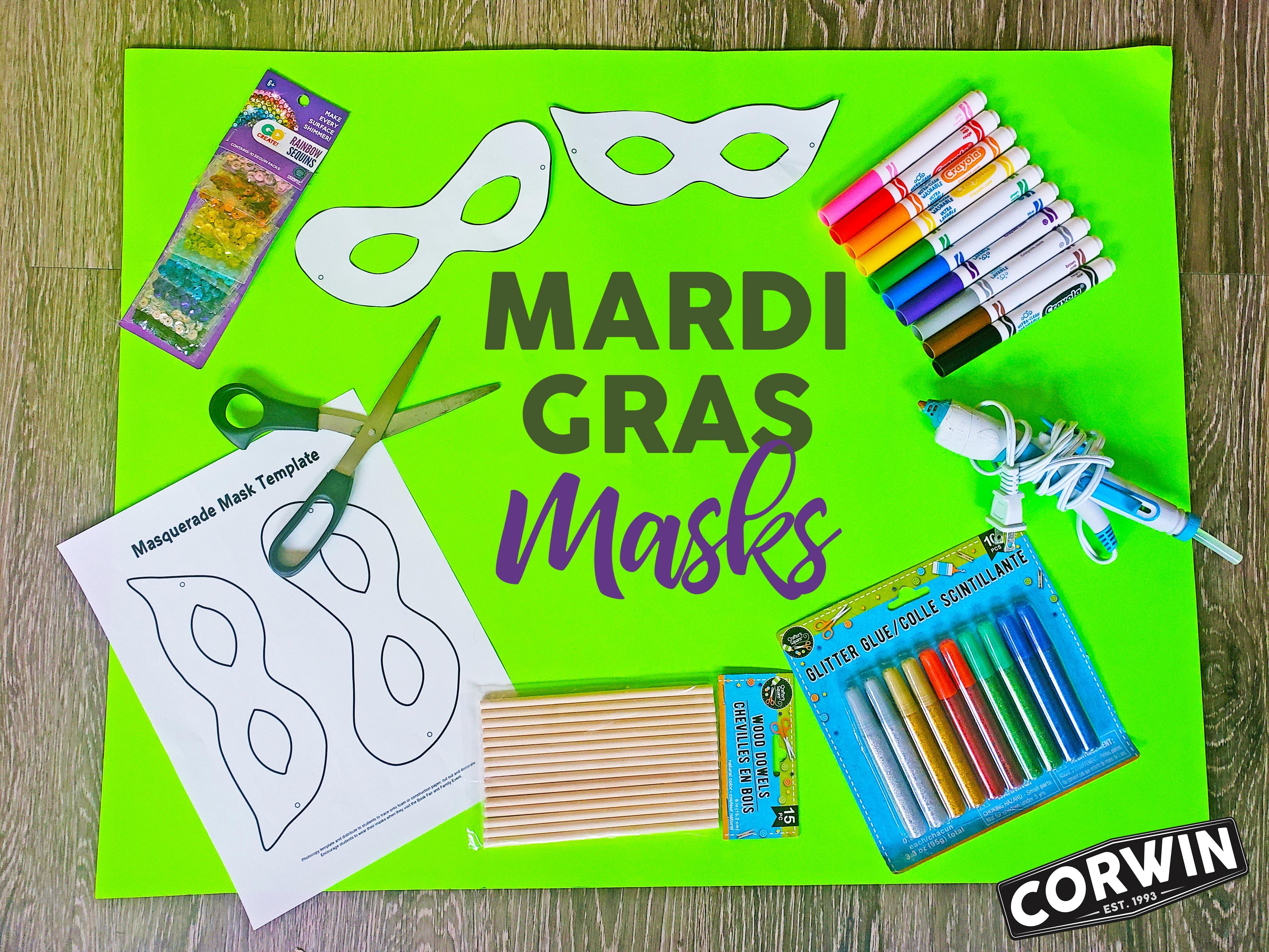 Mardi Gras Masks Activity