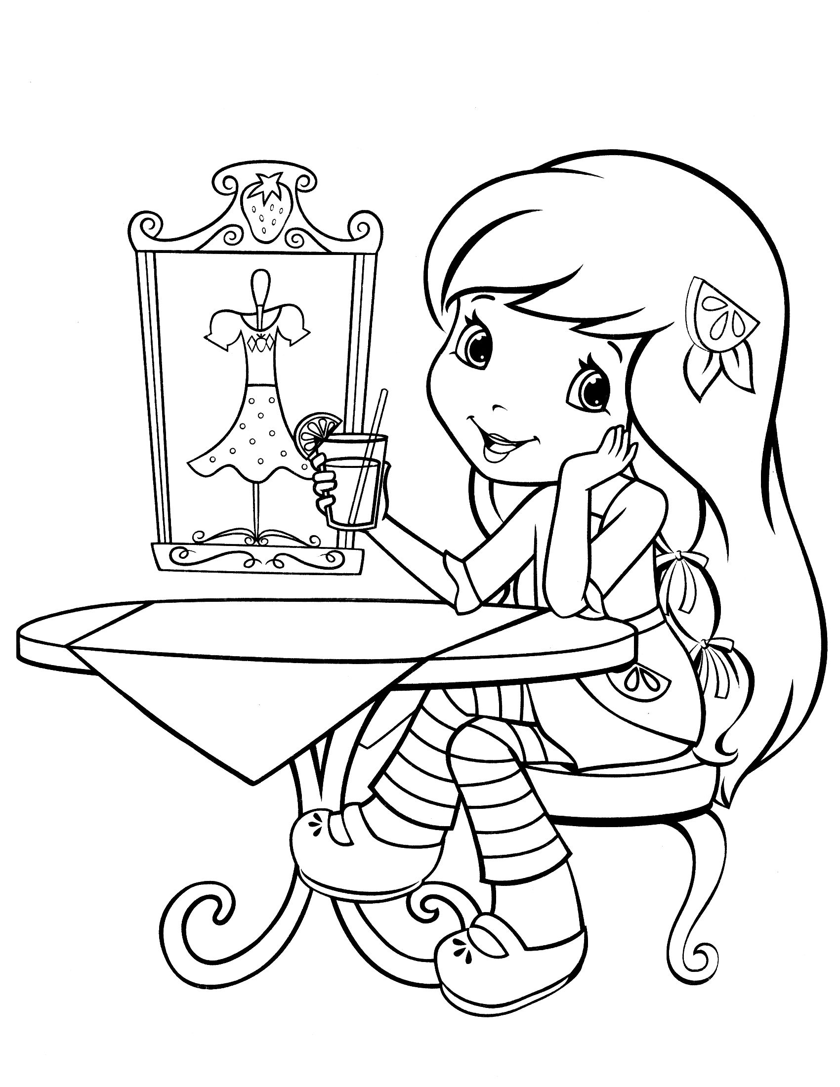 strawberry shortcake coloring page fresitas pinterest digi
