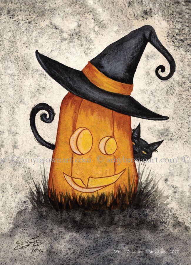 Amy Brown Witch-o-lantern