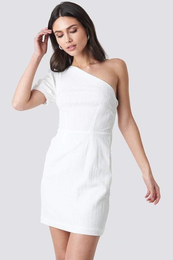 38a37eb578f Na Kd Party One Shoulder Puff Sleeve Mini Dress Black in 2019 ...