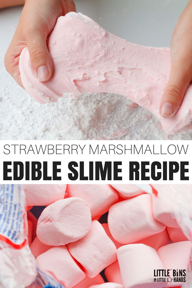 How To Make Edible Marshmallow Slime Safe Slime Recipe Edible Slime Edible Slime Marshmallow