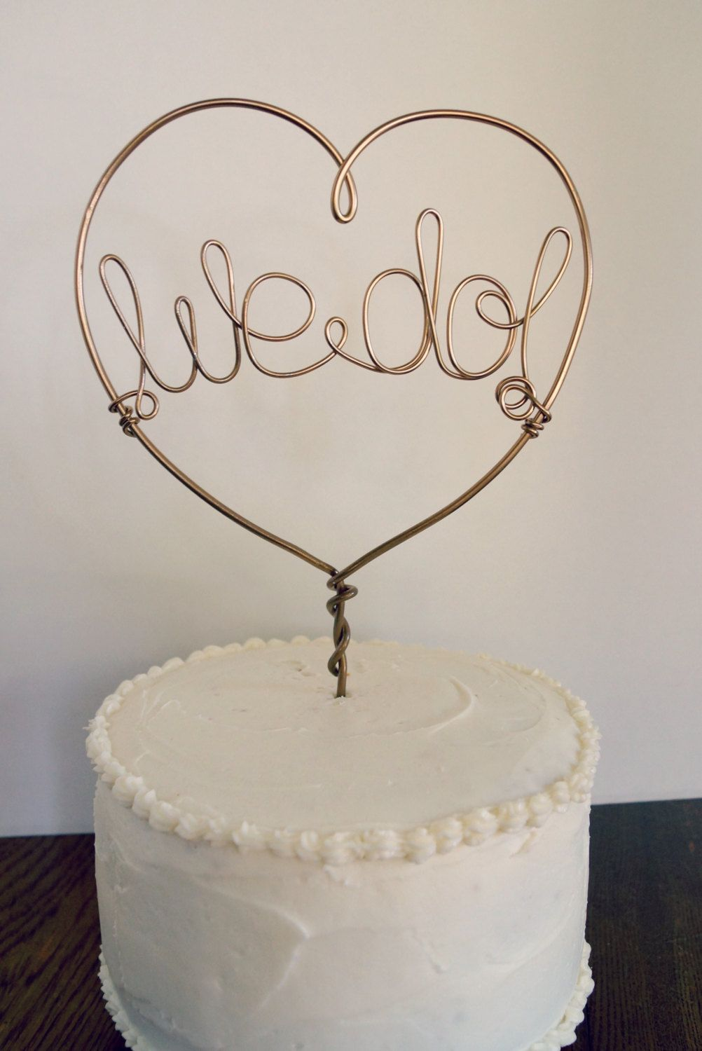 Wedding Cake Topper Custom Wire Heart by FCandCompany on Etsy ...