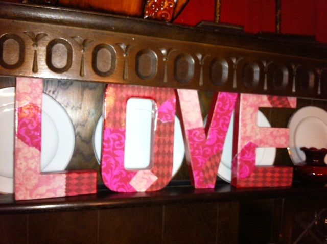 Paper Mache Letters -Decorated with Scrapbook paper
